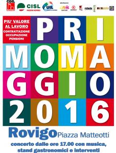 Fronte Volantino 1° maggio 2016 ROVIGO