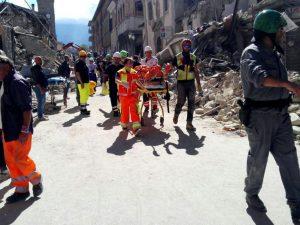 I danni provocati dal forte terremoto ad Amatrice (Rieti), 24 agosto 2016. ANSA/LUCA PROSPERI