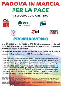 volantino 14.06.17 Padova in Marcia per la Pace