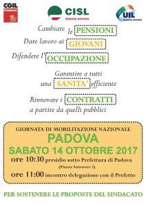 volantino unitario Padova 14.10