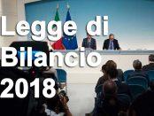 slot legge bilancio 2018