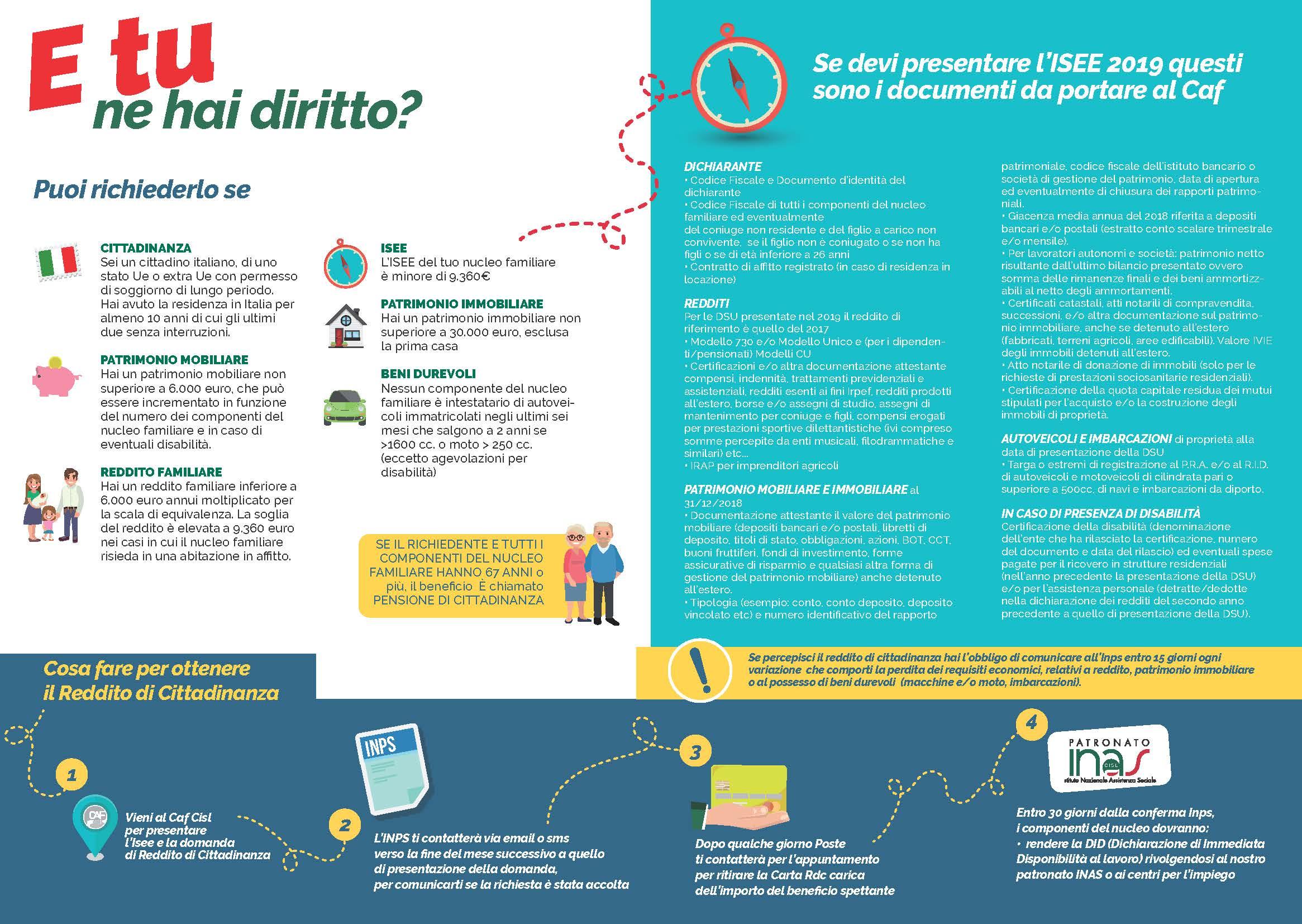 Reddito di cittadinanza: invio domande dal 6 marzo | CISL Padova Rovigo